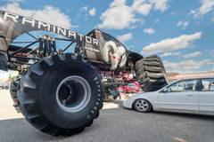 Raminator crushes a sedan at the Woodward Dream Cruise. Royalty Free Stock Photos