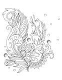 Ramitas ornamentales hermosas, modelo del cordón, tatuaje Imágenes de archivo libres de regalías