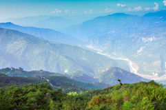 Ramitey view point, Sikkim, India. This view point is popular since many turns of famous River Tista, main river of Sikkim, is seen from here Stock Photo