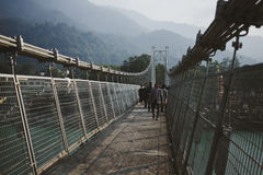 Ramjula bridge view, Rishikesh Royalty Free Stock Photos