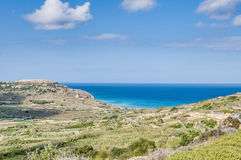 Ramla Bay, on the northern side of Gozo, Malta Stock Image