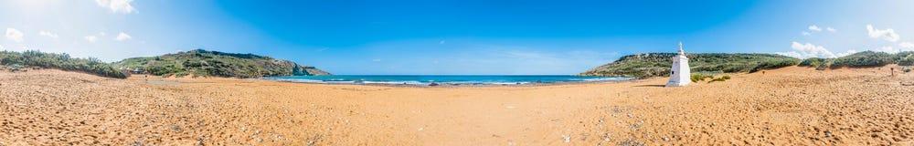 Ramla Beach on the northern side of Gozo, Malta royalty free stock images