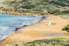 Ramla Beach on the northern side of Gozo, Malta Royalty Free Stock Photography
