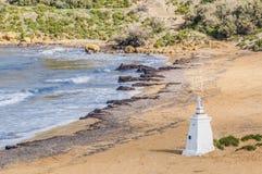 Ramla Beach on the northern side of Gozo, Malta stock photos