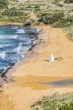 Ramla Beach on the northern side of Gozo, Malta royalty free stock photo