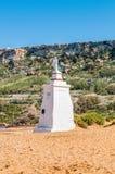 Ramla Beach on the northern side of Gozo, Malta stock image