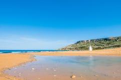 Ramla Beach on the northern side of Gozo, Malta Stock Photography