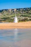 Ramla Beach on the northern side of Gozo, Malta stock photo