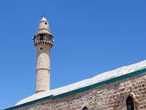 Ramla minaret av den stora moskén 2007 royaltyfri fotografi