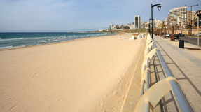 Ramlet el Baida Beach, Beirut-Lebanon. Ramlet el Baida (Whtie Sands) beach located at the southern end of Beirut's seaside promenade Royalty Free Stock Image