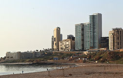 Ramlet El Baida Beach, Lebanon Royalty Free Stock Photos