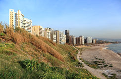 Ramlet El Baida Beach, Lebanon Royalty Free Stock Photo