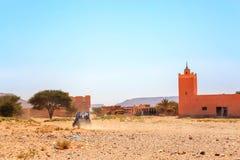 Ramlia, Maroc - 26 février 2016 : vue arrière sur l'étoile polaire bleue RZR 80 Images libres de droits