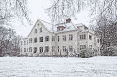 Ramlosa brunnspark flora house in winter Stock Images