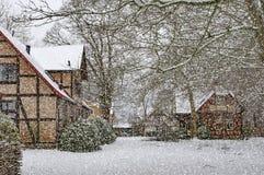 Ramlosa brunnspark Snowfall Royalty Free Stock Images