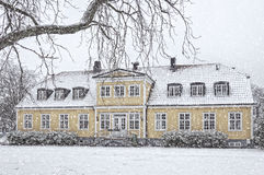 Ramlosa brunnspark in winter Royalty Free Stock Photography