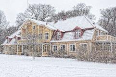 Ramlosa brunnspark in wintertime Stock Photo