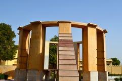 Ramma instrumentet på den astronomiska observatoriet Jaipur Rajasthan Indien royaltyfria foton