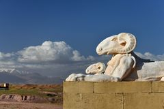 Ramma statyn på de Kartbok Korporation studiorna i Ouarzazate, Marocko Arkivbilder