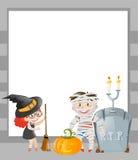Rammall med det halloween temat vektor illustrationer