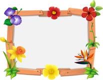 Rammallen med många blommar vektor illustrationer