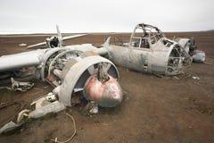Rammelkasten ju-88 vliegtuigwrak, Wereldoorlog II Stock Fotografie