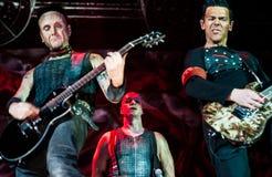 Rammstein koncert Fotografia Stock
