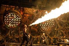 Rammstein koncert Obrazy Stock