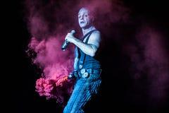 Rammstein konsert Royaltyfria Bilder