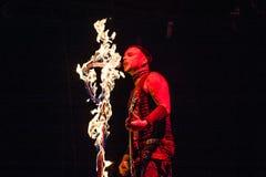 Rammstein konsert Arkivbild