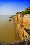 Ramnagar Fort by river Ganges Royalty Free Stock Images