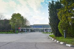 Ramnicu Valcea, Romaniia - 18.04.2019 - Oltchim Chemical Plant stock photography