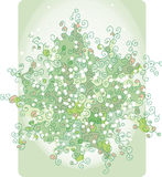 Ramo abstracto pálido verde Foto de archivo