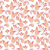 Ramo abstrato 2 da aquarela Teste padrão floral Imagem de Stock Royalty Free