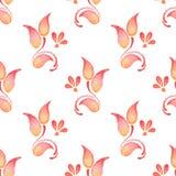 Ramo abstrato 2 da aquarela Teste padrão floral Fotografia de Stock Royalty Free
