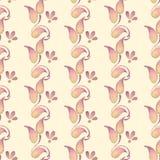 Ramo abstrato 2 da aquarela Teste padrão floral Fundo sem emenda Imagem de Stock Royalty Free