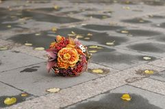 Ramo anaranjado de la boda Fotografía de archivo
