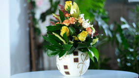 Ramo armonioso creado de la flor almacen de video