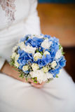 Ramo azul de la boda Imagen de archivo libre de regalías