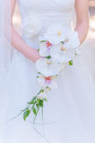 Ramo blanco de la boda Fotos de archivo
