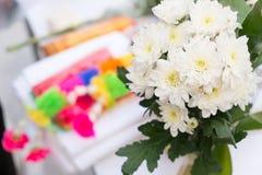 Ramo blanco de la flor del crisantemo Foto de archivo