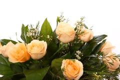 Ramo blanco de las rosas Fotografía de archivo libre de regalías
