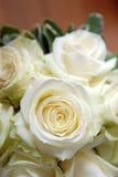 Ramo blanco de Rose Fotografía de archivo