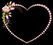 ramo color de rosa con los corazones. Fotografía de archivo