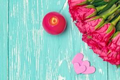 Ramo color de rosa del color de rosa hermoso Fotografía de archivo