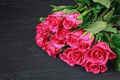Ramo color de rosa del color de rosa hermoso Fotografía de archivo libre de regalías