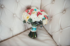 Ramo colorido de la boda hermosa para la novia foto de archivo libre de regalías