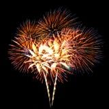 Ramo colorido de los fuegos artificiales Foto de archivo libre de regalías