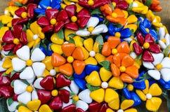 Ramo con los batterflies hechos de los caramelos de la jalea Fotografía de archivo libre de regalías