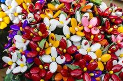 Ramo con los batterflies hechos de los caramelos de la jalea Fotos de archivo libres de regalías